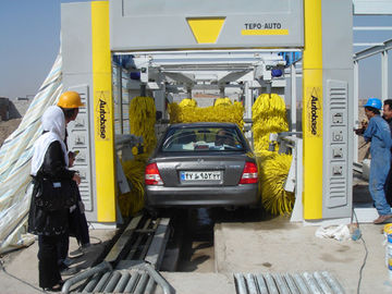 چین Steel Tunnel Car Washing Machine , TEPO-AUTO Automatic Car Washer تامین کننده